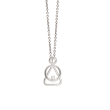 Mother and Child Silver cubic zirkonia