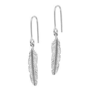 Feather earhook with small feather