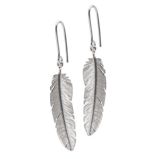 Feather earhook with medium feather