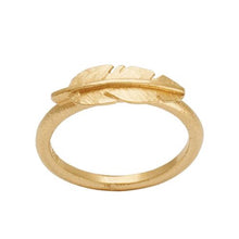 Gold Feather ring mini