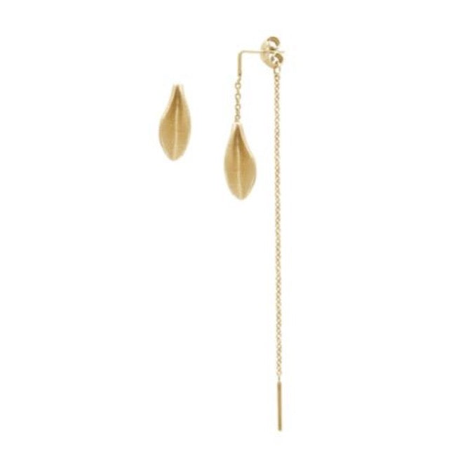 Mini Grass earring with chain