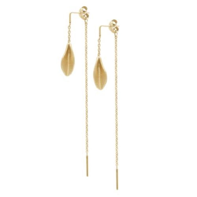Grass mini earring with chains