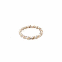 Twisted ring silver/goldplated
