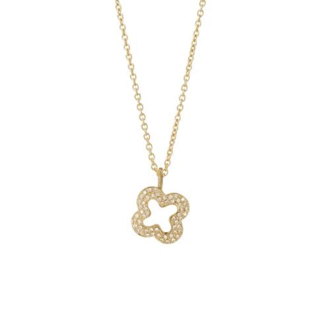 Brilliant pave Flower pendant