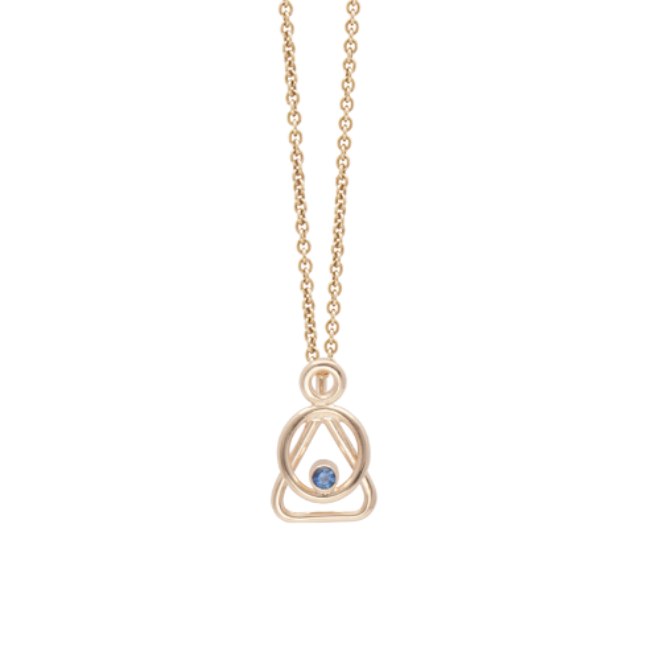 Mother and Child Gold sapphire