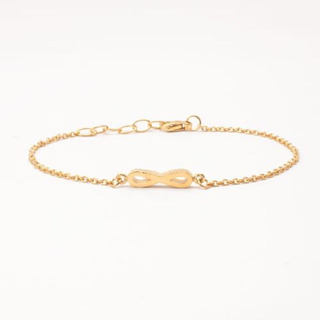Initials bracelet Goldplated
