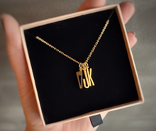Initials Pendant goldplated