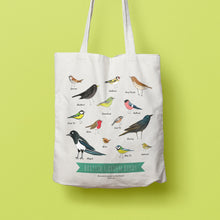 Load image into Gallery viewer, SECONDS SALE Illustrated Garden Birds tote bag