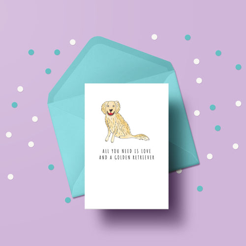 All you need is love and a Golden Retriever card
