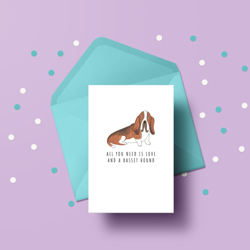 All you need is love and a Basset Hound card