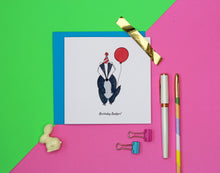 Load image into Gallery viewer, Birthday Badger Birthday card