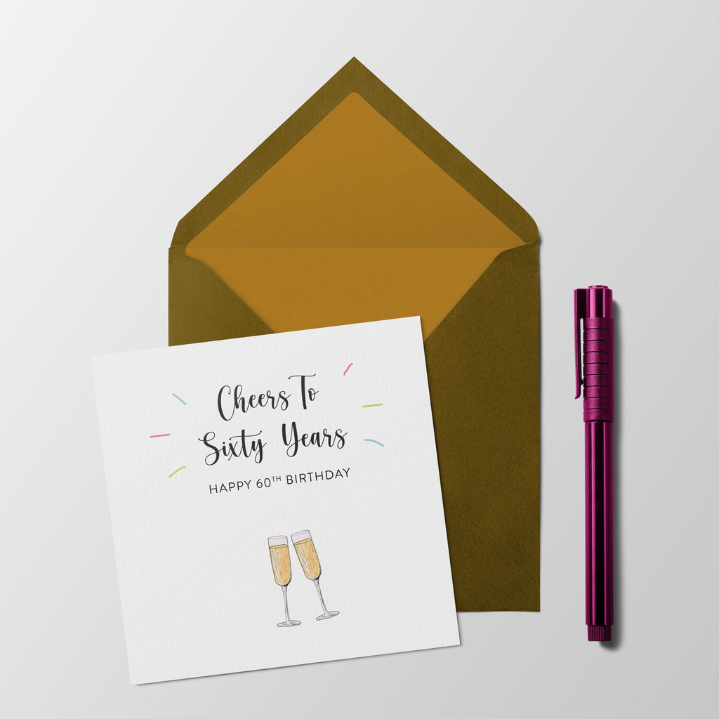 Cheers to sixty years - 60th Birthday Milestone card