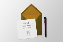 Load image into Gallery viewer, Cheers to sixty years - 60th Birthday Milestone card