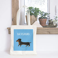 Load image into Gallery viewer, Dachshund sausage dog tote bag