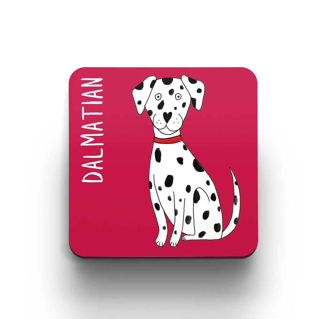 Illustrated Dalmatian drinks coaster
