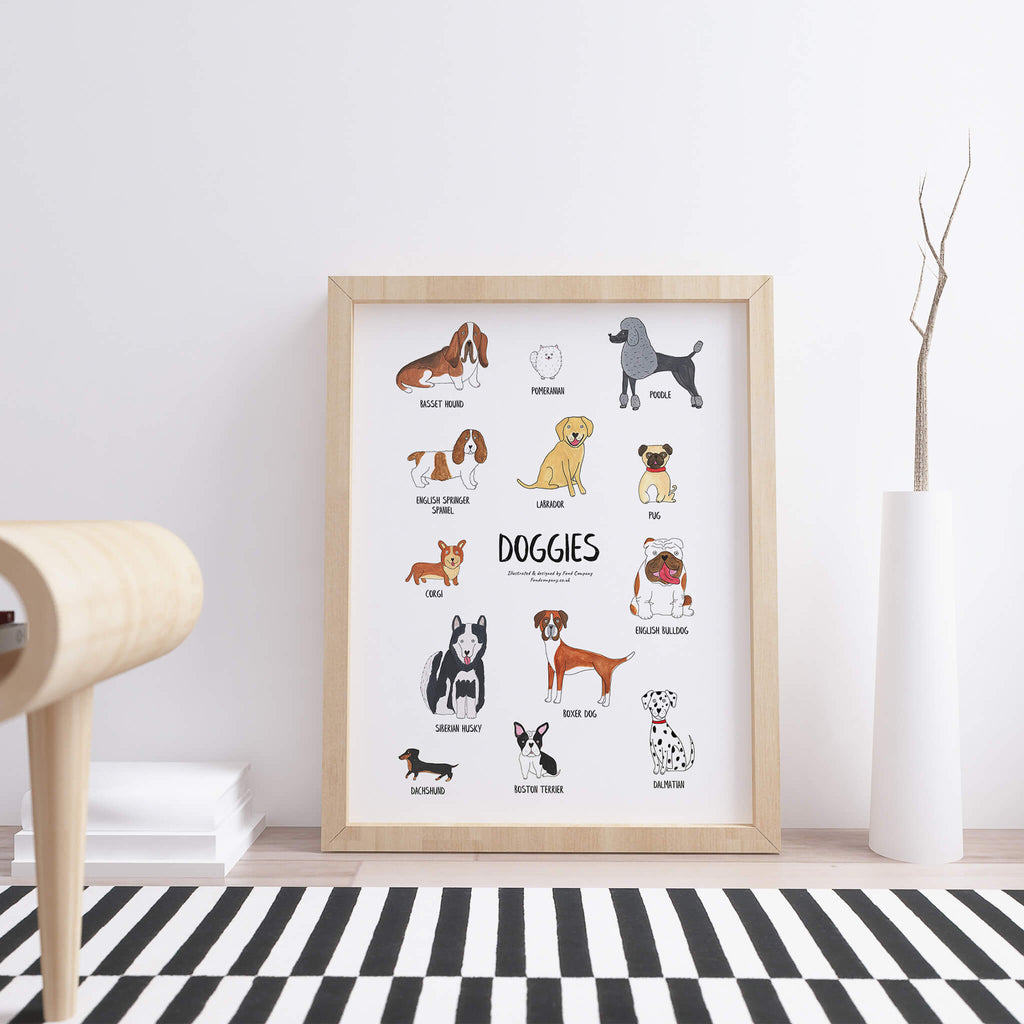 Illustrated Dog art print | A5 | A4 | A3