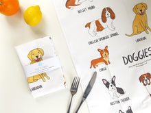 Load image into Gallery viewer, Illustrated Dog breed tea towel