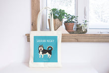Load image into Gallery viewer, Illustrated Husky tote bag