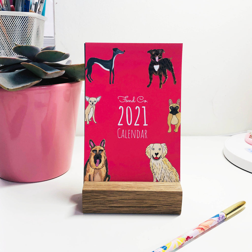 2021 NEW Dog desk calendar