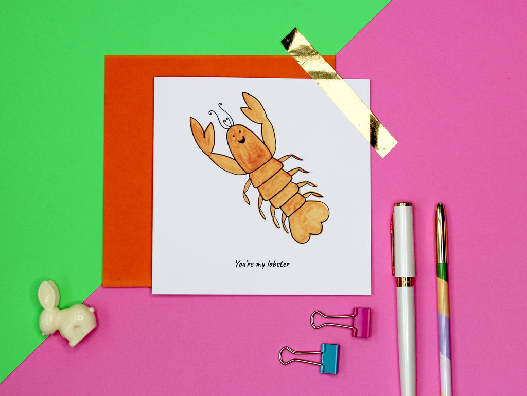 You're my lobster - funny lobster valentine's day / anniversary card