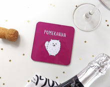 Load image into Gallery viewer, Illustrated Pomeranian drinks coaster