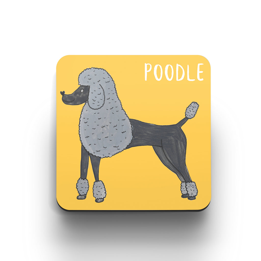 Illustrated Poodle drinks coaster