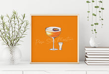 Load image into Gallery viewer, Porn Star Martini illustration square cocktail print