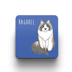 Illustrated Ragdoll cat cute cat coaster