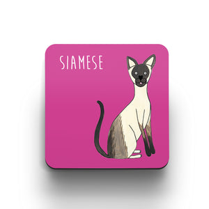 Illustrated Siamese cat cute cat coaster