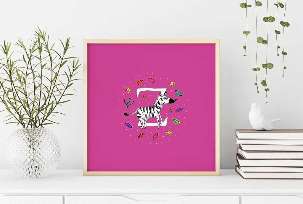 Personalised illustrated animal letter
