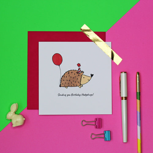 Birthday hedgehugs card