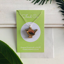 Load image into Gallery viewer, Handmade wooden Wren necklace