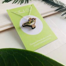 Load image into Gallery viewer, Handmade wooden Goldfinch necklace