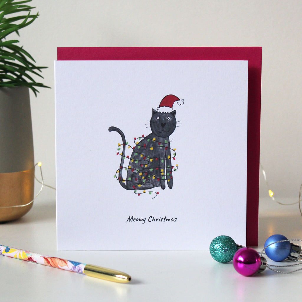 Sale - Have a 'Meowy Christmas' funny cat Christmas card