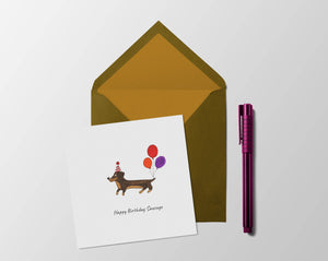 Happy Birthday sausage - sausage dog birthday card