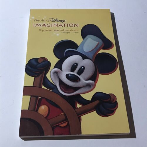 The Art Of Disney Imagination Book Of 20 Stamped Postal Cards (4 Designs)