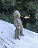 Vintage Solid Brass Native American Indian Chief Figurine