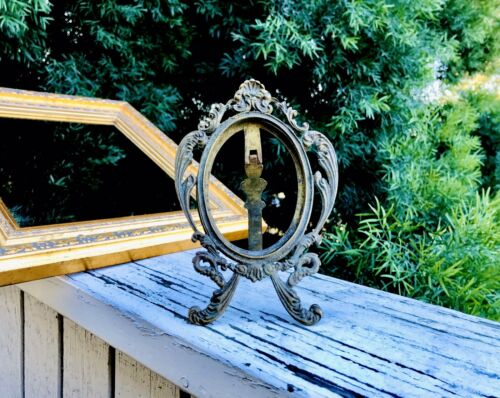 Antique Ornate Brass Picture Frame