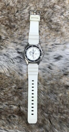 Casio AMW Mens White 100 M Diver Chronograph Analog Watch