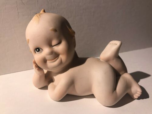 Lefton Ceramic Baby Kewpie Doll Winking Figurine Collectible