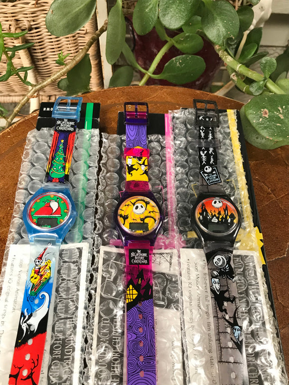 New Nightmare Before Christmas Disney Watch Burger King Promo Set of 3 Watches