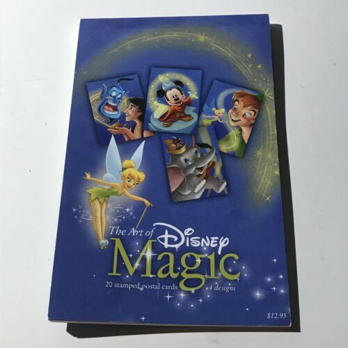 The Art Of Disney Magic Book Of 20 Stamped Postal Cards (4 Designs)