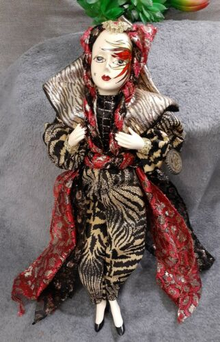 Unique Porcelain Jester Glam Doll Collectible Victoria Impex Corp Made in Korea