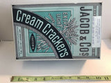 "Vintage Collectible 'Jacob & Co.'s Extra Light Cream Crackers Metal Tin 6.5""x10"""