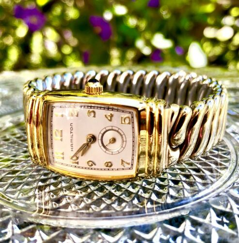 Hamilton 11 Jewels Ladies Quartz Watch 1/20 10KT Gold Filled Tops (WORKS!)