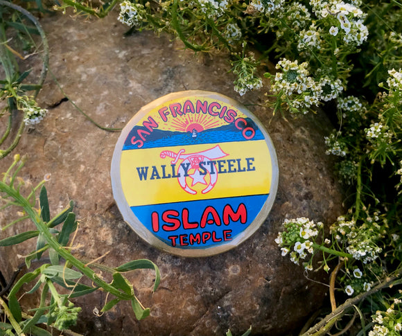 Vintage Wally Steele San Francisco Islam Muslim Temple Collectible Pin
