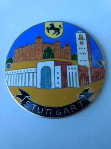 Porsche Stuttgart Rare ear Badge Car Badge