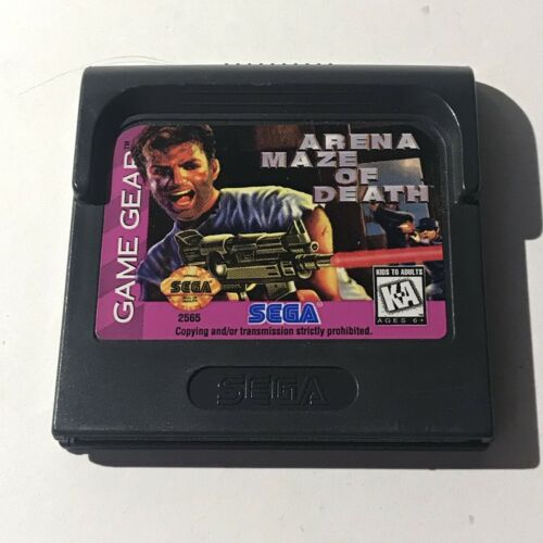 Game Gear Arena Maze Of Death Sega Game Cartridge