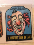 VTG Ringling Bros and Barnum &Bailey Circus Greatest Show on Earth TRIMMIT DECAL