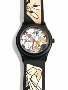 Rare Fossil Japan Warner Brothers WB Looney Tunes Watch - Runs!